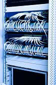 cables switches and patch on network rack