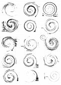 pic of quirk  - Collection of vector swirl elements for grunge design - JPG