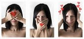 stock photo of triptych  - triptych blinding silence and not heard about love - JPG