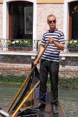 Gondolier in a gondola