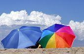 Beach Umbrellas On The Sand