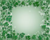 Soft Green Leaves Background poster