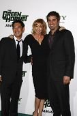LOS ANGELES, CA - JAN 10: Mythbusters: l-r Grant Imahara, Kari Byron, Tory Belleci at the premiere of 'The Green Hornet' at Grauman's Chinese Theater in Los Angeles, California on January 10, 2011