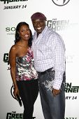 LOS ANGELES, CA - JAN 10: Omarosa and Michael Clarke Duncan at the premiere of 'The Green Hornet' at Grauman's Chinese Theater in Los Angeles, California on January 10, 2011