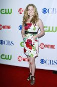 LOS ANGELES, CA - Juli 18: Britt Robertson bei der CBS-CW-Showtime-Presserundgang Sternen-Party in Los Angel