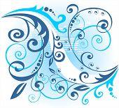 Blau Blumenmuster