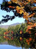 Maine Lake In The Fall