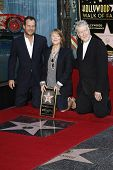 LOS ANGELES, CA - AUG 1: Bill Paxton; Sissy Spacek; David Lynch at a ceremony where Sissy Spacek is honored with a star on the Hollywood Walk of Fame in Los Angeles, California on August 1, 2011