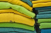 Colourful cashmere alpaca and merino wool