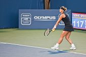 Sabine Lisicki, GER, plays in semifinal game at the Bank of the West Classic