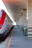 Modern High Speed Train At Train Station