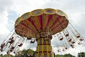 Funny colorful carousel
