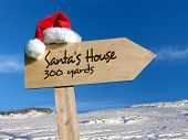 Santa'S House Signpost