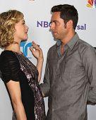 LOS ANGELES - AUG 1:  Yvonne Strahovski, Zach Levi arriving at the NBC TCA Summer 2011 Party at SLS