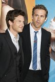 LOS ANGELES - AUG 1: Jason Bateman; Ryan Reynolds at the premiere of Universal Pictures' 'The Change-Up' held at the Regency Village Theatre on August 1, 2011 in Los Angeles, California