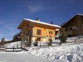 Snowy Wooden Chalet