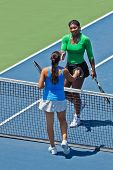 Serena Williams, USA, wins in final game at the Bank of the West Classic