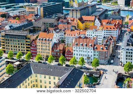poster of Beautiful Aerial View Of Copenhagen From Above, Denmark