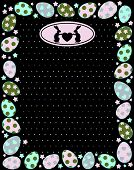 The frame of decorative Easter eggs on the background of the vector