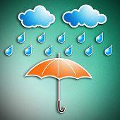 Rainy Season And Umbrella