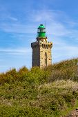 The Lighthouse From Cap De Frehel On Armor Coastline In Brittany In North Of France. poster
