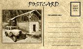 Vintage Empty Blank Motor Car Postcard Template