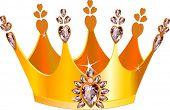Ilustración de la hermosa tiara de oro