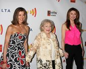 LOS ANGELES - APR 21:  Wendie Malick; Betty White; Jane Leeves arrives at the 23rd GLAAD Media Awards at Westin Bonaventure Hotel on April 21, 2012 in Los Angeles, CA