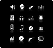 Música e áudio Vector Icons