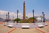 stock photo of obelisk  - Originally Plaza de Francia was the main square of the city - JPG