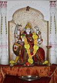 image of laxmi  - Laxmi hindu idol at Dhatva Temple worshiped by hindus as a god of fortune - JPG