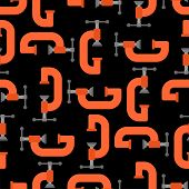 Clamp Tool Pattern Seamless. Locksmith Tool Background. Vector Texture poster