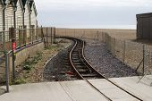 Railway Line On Beach. Brighton. UK