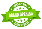 Grand Opening Ribbon. Grand Opening Round Green Sign. Grand Opening poster