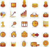 25 business vector icon set