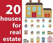 20 house for real estate - vector set