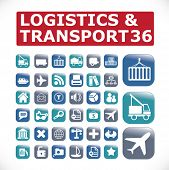 logistics & transport icons - vector set #32