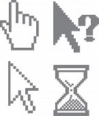 grey cursors for advertising.vector.
