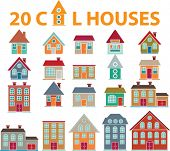20 cool houses.vector.