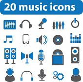 20 music icons.vector