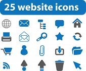 25 website icons.vector