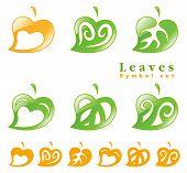 Leaves Symbol Set.