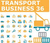 transport business icons. vector
