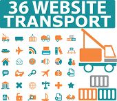stock photo of delivery-truck  - 36 website transport icons - JPG