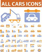 cars icons. vector