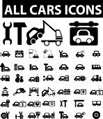 all cars icons. vector