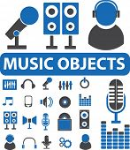 music objects. vector
