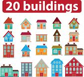 20 buildings. vector