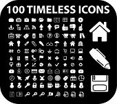 100 ícones intemporais. vector
