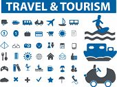 40 travel & tourism signs. vector